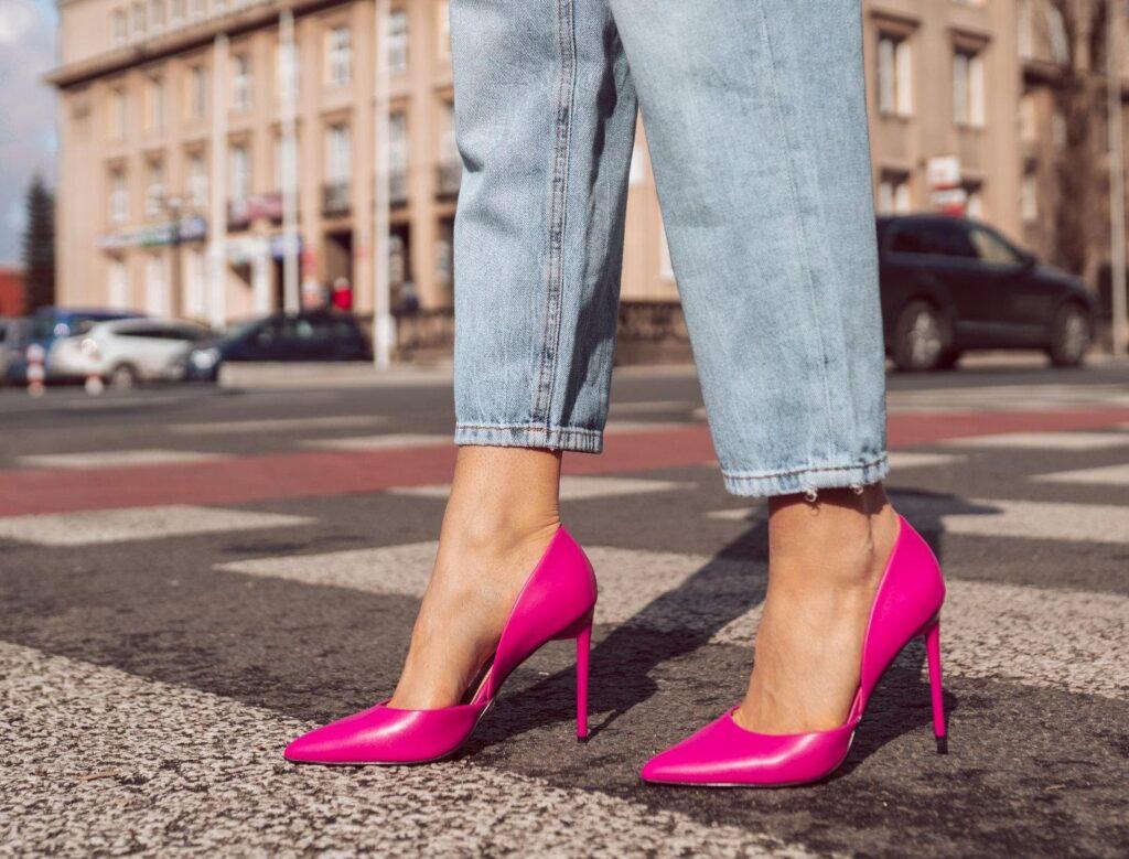 rosafarbene High Heels